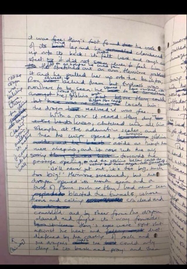 JK Rowling Drafts