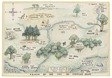 Winnie The Pooh 100 Acre Wood Map
